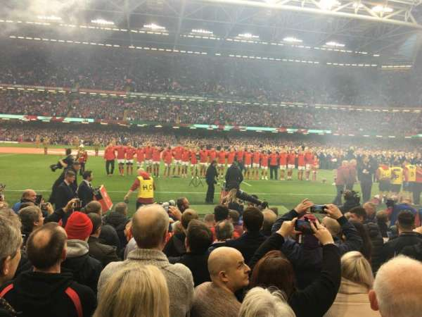 Principality Stadium, section: L10, row: 9, seat: 12