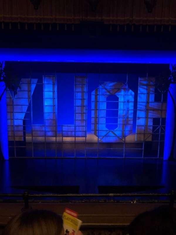 Nederlander Theatre, section: Mezzanine C, row: C, seat: 109