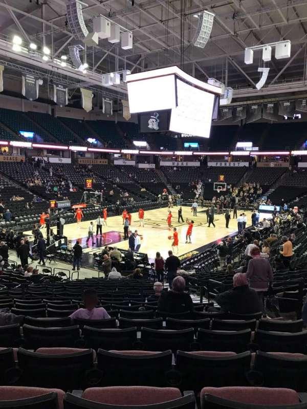 Lawrence Joel Veterans Memorial Coliseum, section: 111, row: U, seat: 6