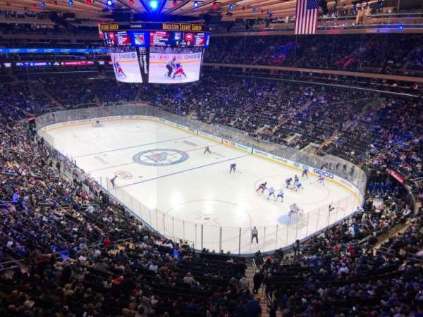 Madison Square Garden, section: 414, row: 1, seat: 6
