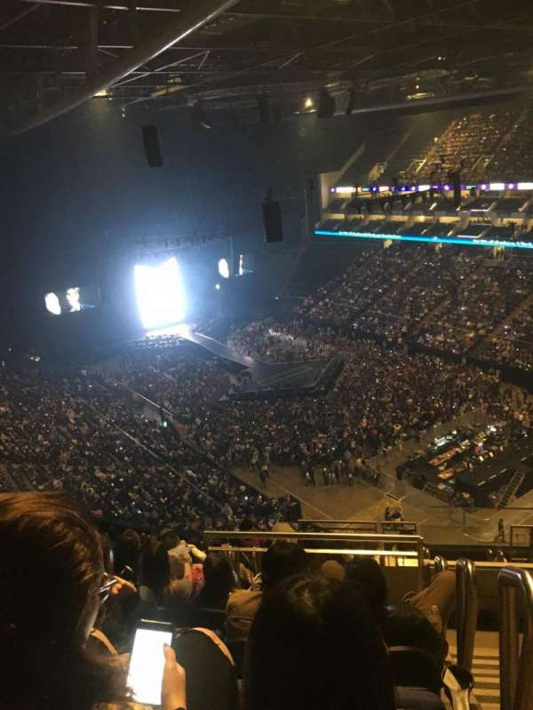 The O2 Arena, section: 408, row: M, seat: 630