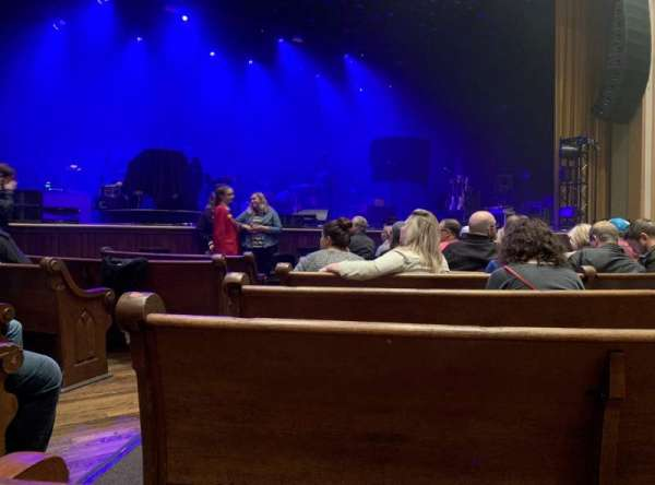 Ryman Auditorium, section: MF-5, row: H, seat: 11,12