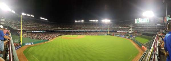 Globe Life Park in Arlington, section: 46, row: A