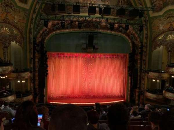 New Amsterdam Theatre, section: Mezzanine C, row: HH, seat: 115
