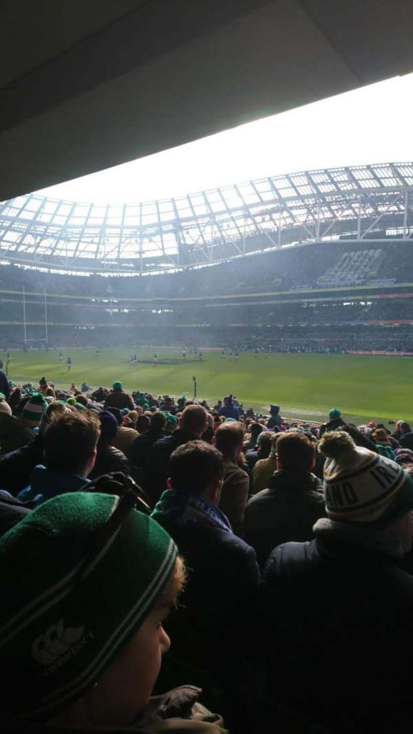 Aviva Stadium, section: 101, row: BB, seat: 19