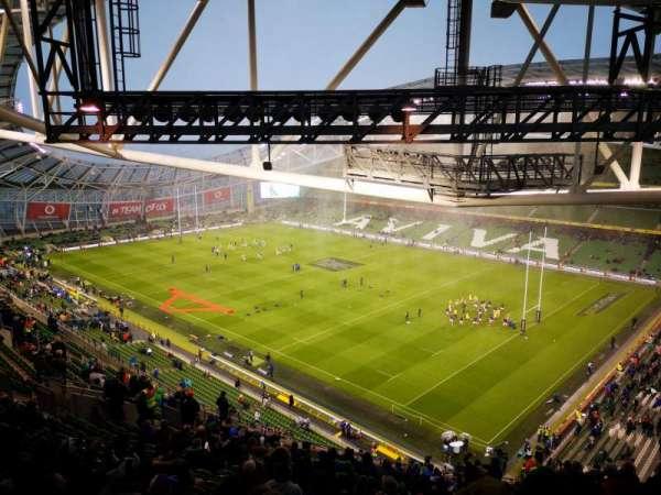 Aviva stadium , section: 520, row: X, seat: 17