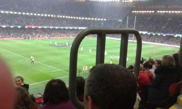 Principality Stadium, section: M13, row: 13, seat: 16