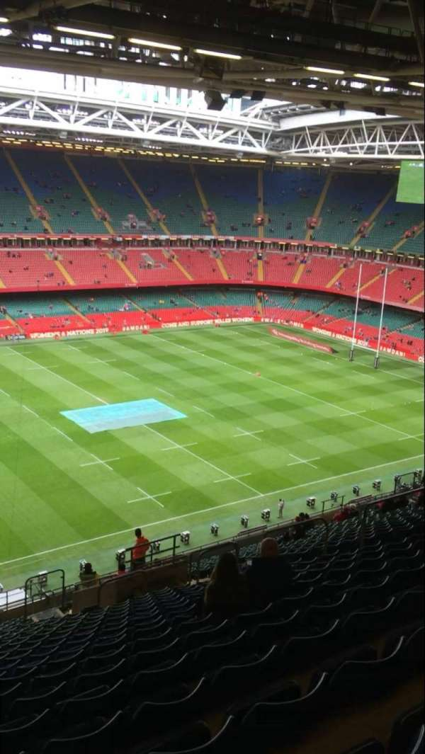 Principality Stadium, section: U33, row: 28