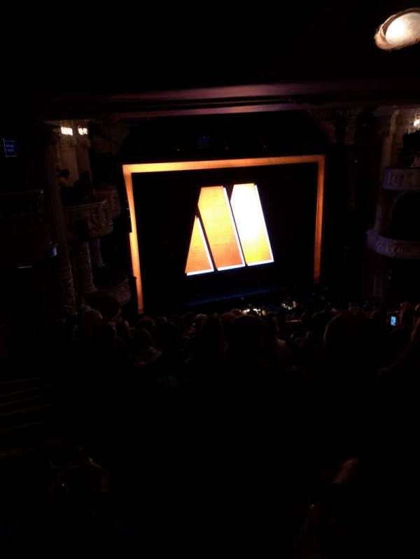 Shaftesbury Theatre, section: Royal circle, row: K, seat: 34