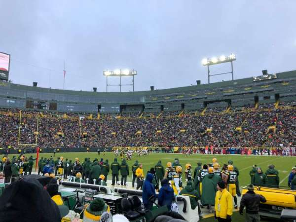 Lambeau Field, section: 122, row: C, seat: 4