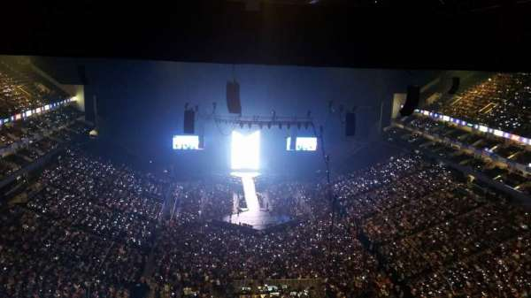 The O2 Arena, section: 411, row: T, seat: 706
