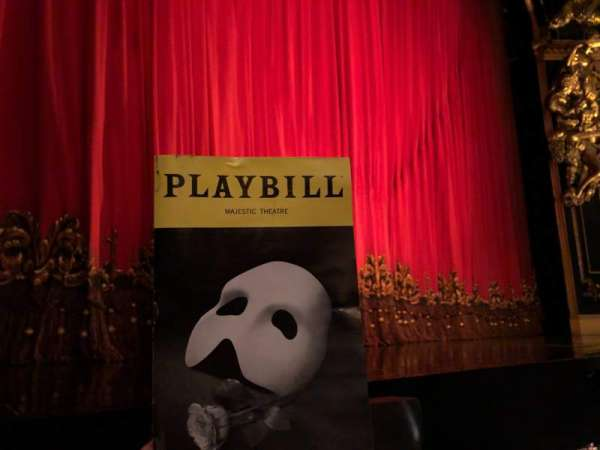 Majestic Theatre, section: Orchestra L, row: AA, seat: 5