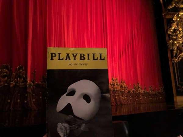 Majestic Theatre, section: Phantom of the Opera, row: AA, seat: 5