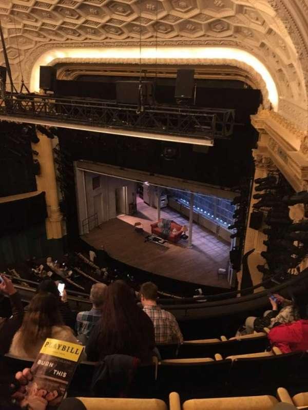 Hudson Theatre, section: Balcony R, row: E, seat: 10