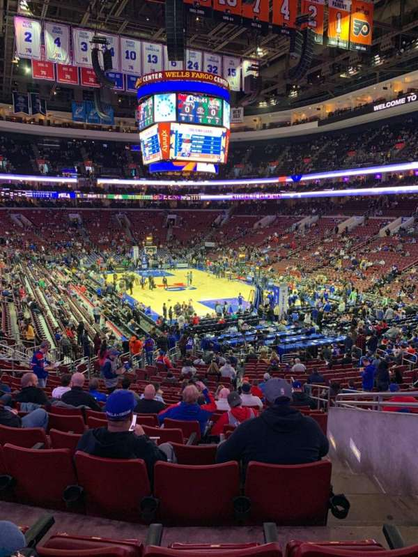 Wells Fargo Center, section: 117, row: 25, seat: 20