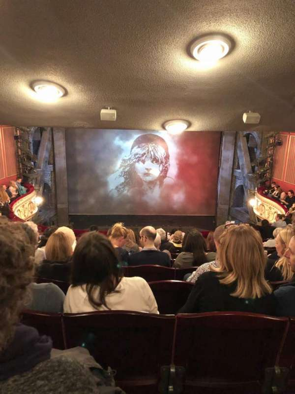Queen's Theatre, section: Dress circle, row: K, seat: 13