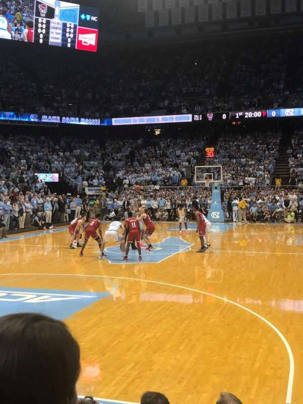 Dean Dome, section: 104, row: D, seat: 4