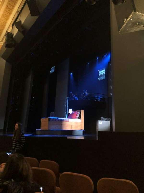 Music Box Theatre, section: OrchPV, row: E, seat: 18