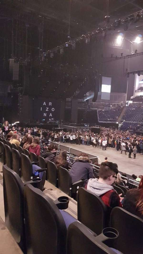 The O2 Arena, section: 103, row: Q, seat: 93