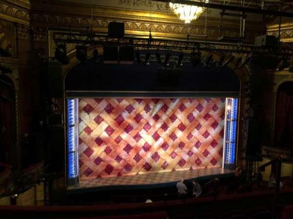 Brooks Atkinson Theatre, section: Mezzanine, row: E, seat: 124