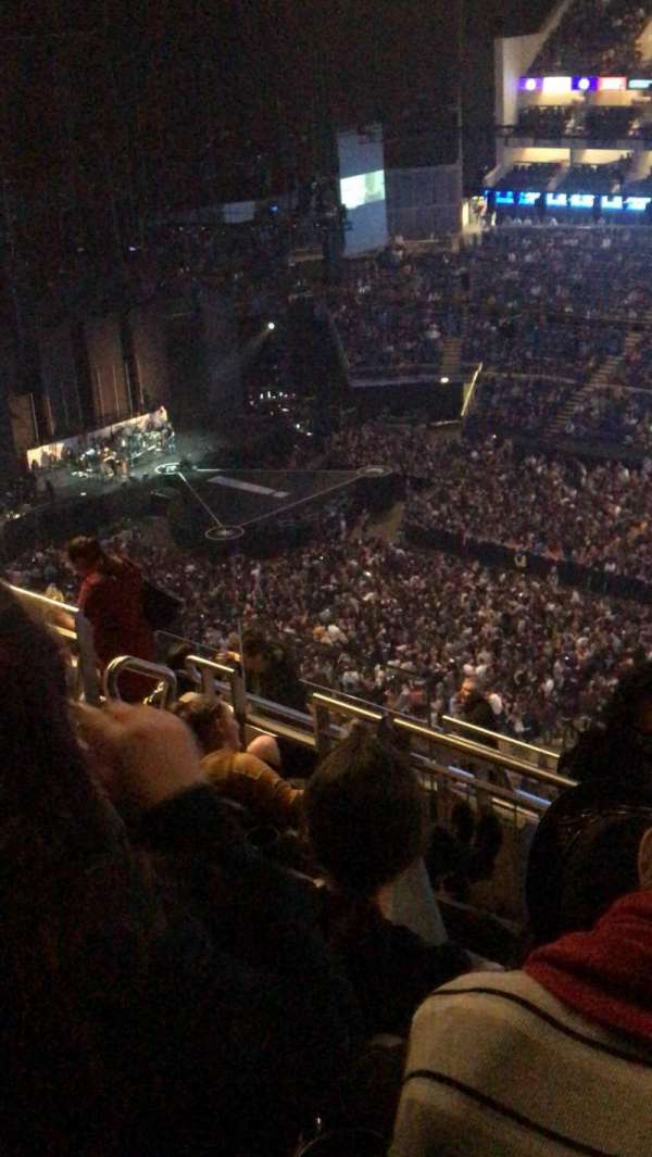 The O2 Arena, section: 405, row: m, seat: 570