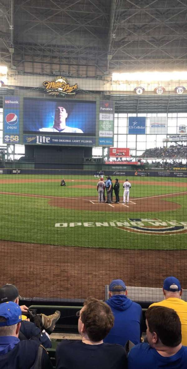 Miller Park, section: 118, row: 5, seat: 9