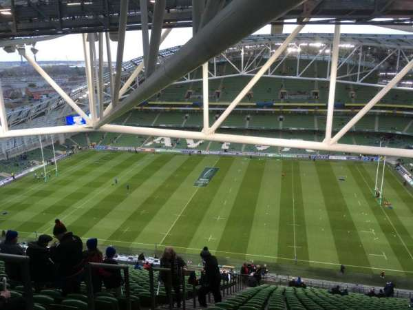 Aviva Stadium, section: 524, row: PP, seat: 14