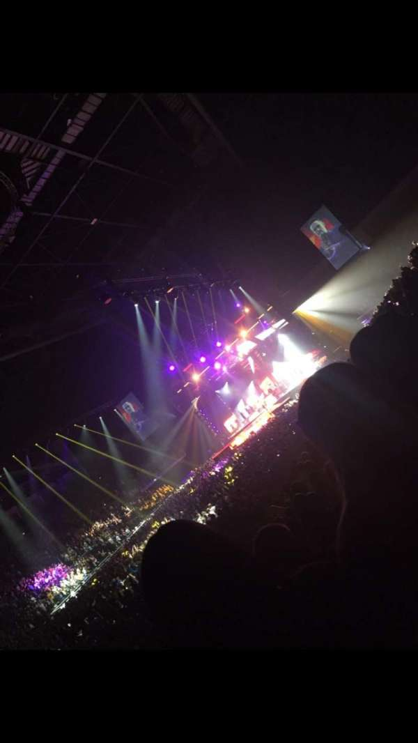 The O2 Arena, section: 109, row: N, seat: 274-277