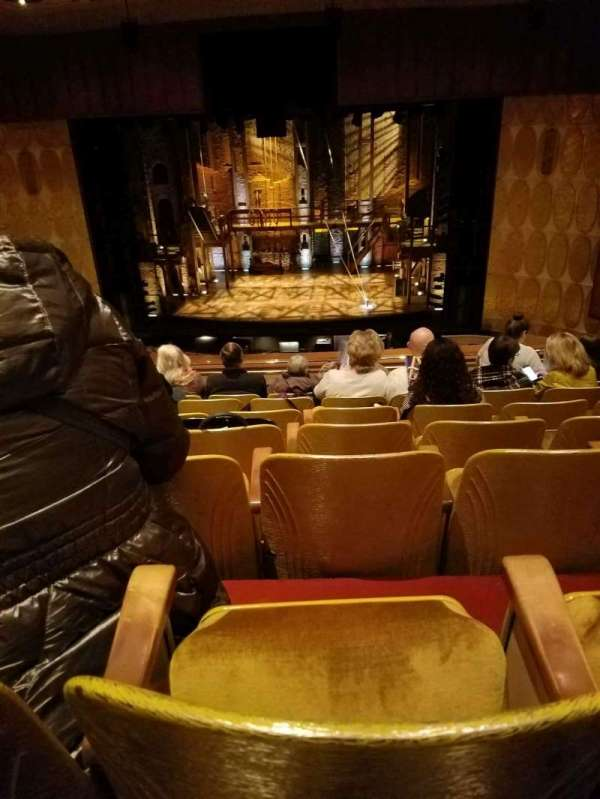 Fisher Theatre, section: LRTCNT, row: G, seat: 108