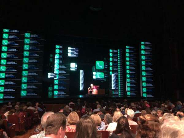 Au-Rene Theatre at the Broward Center, section: Orchestra C, row: P, seat: 112