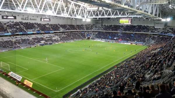 Tele2 Arena, section: B302, row: 20, seat: 81