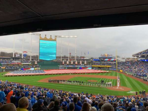 Kauffman Stadium, section: 224, row: MM, seat: 7