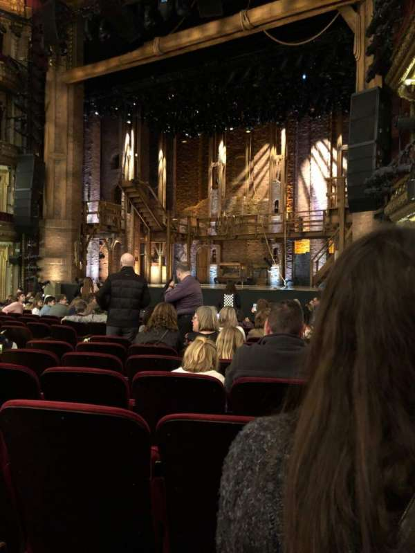 CIBC Theatre, section: Orchestra R, row: Q, seat: 14