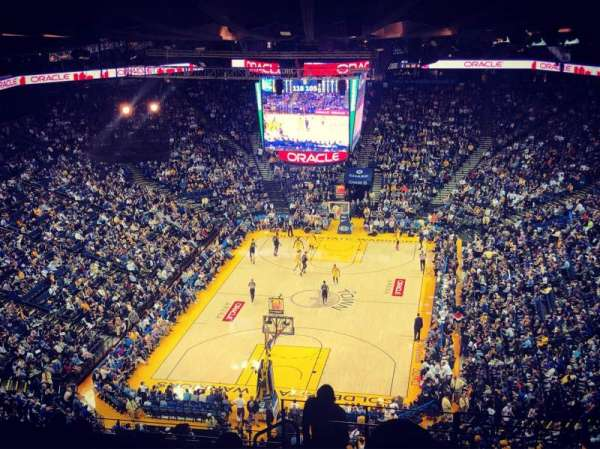 Oracle Arena, section: 208, row: 16, seat: 1