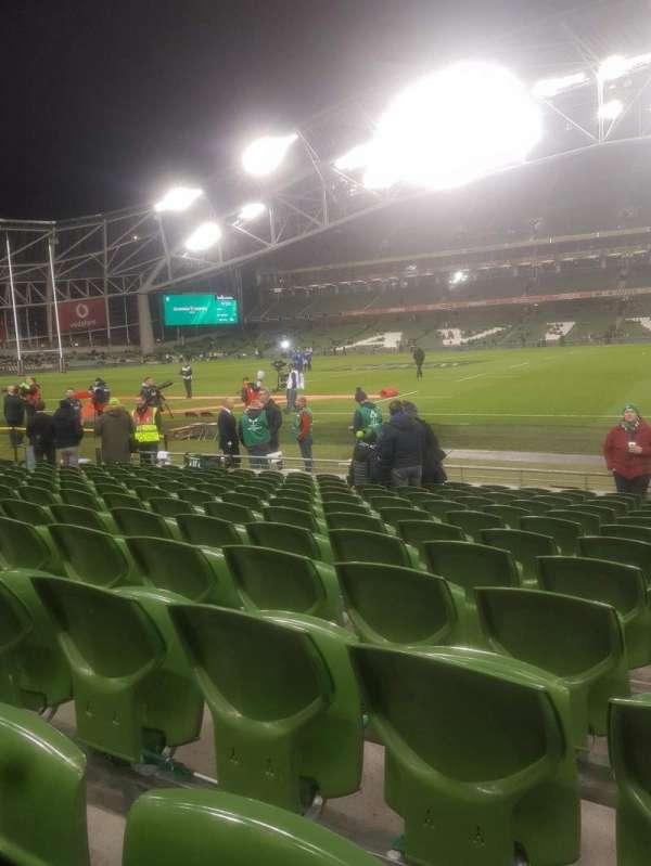 Aviva Stadium, section: Block 123, row: M, seat: 17