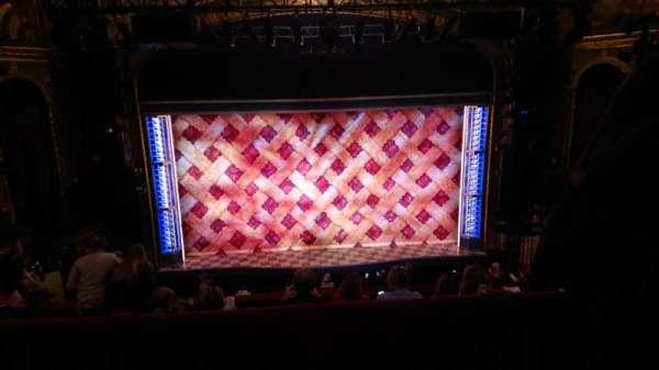 Brooks Atkinson Theatre, section: Mezzanine, row: E, seat: 115
