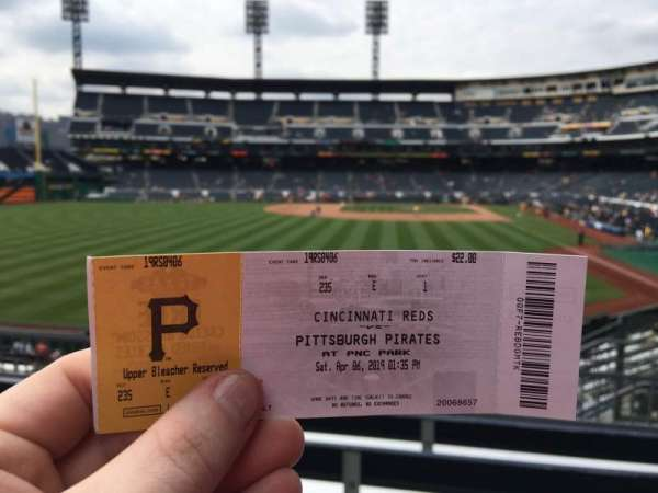 PNC Park, section: 235, row: E, seat: 1