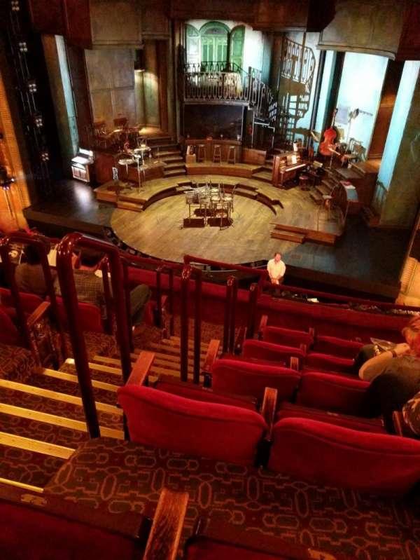 Walter Kerr Theatre, section: mezzanine, row: F, seat: 4