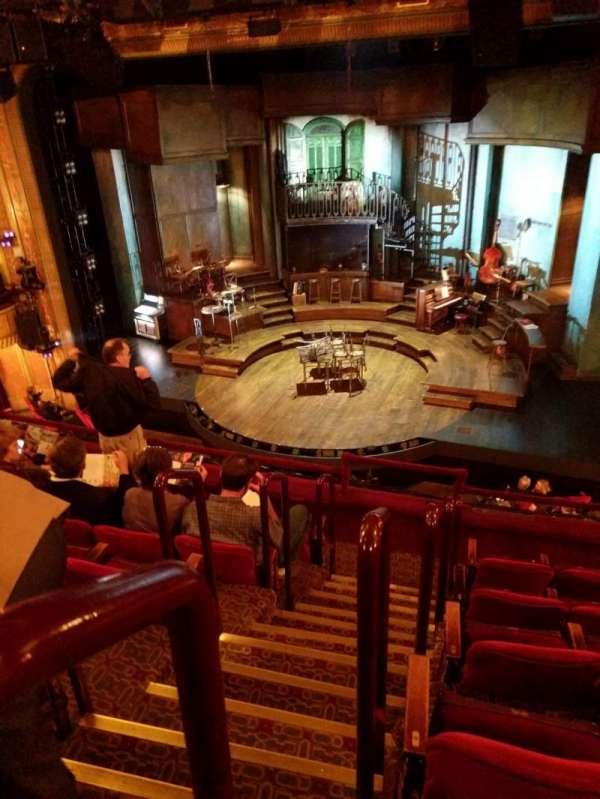 Walter Kerr Theatre, section: mezzanine, row: F, seat: 2