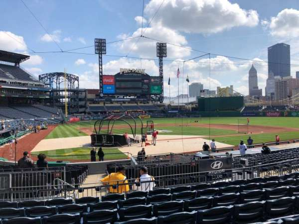 PNC Park, section: 114, row: H, seat: 19