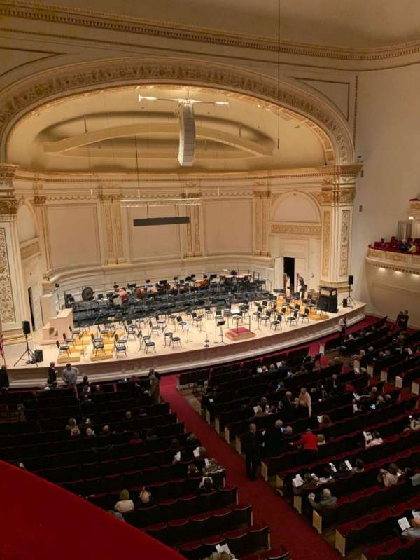 Carnegie Hall, section: Box 44, row: 1, seat: 3