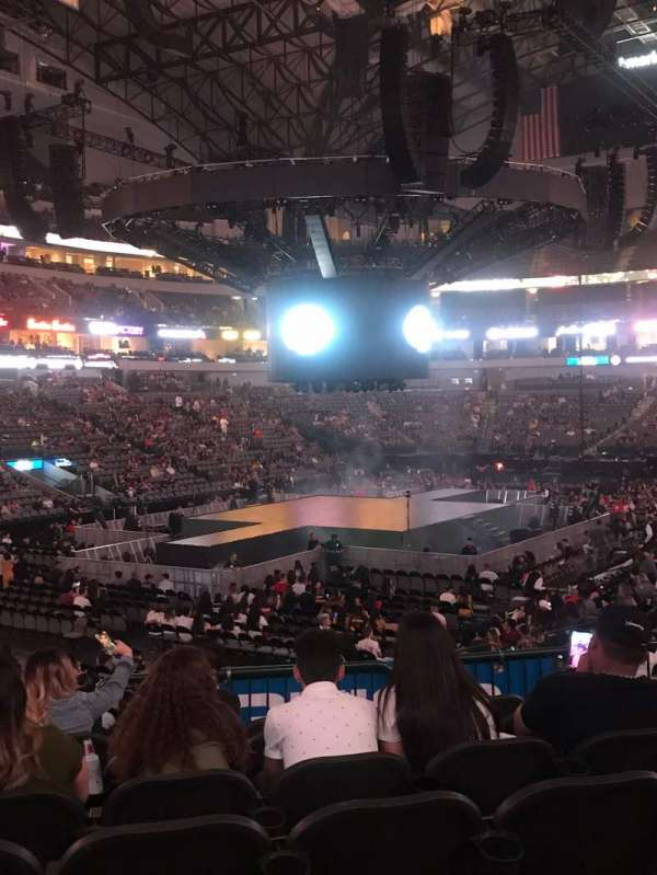 American Airlines Center, section: 110, row: T, seat: 15