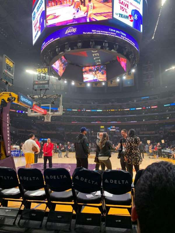 Staples Center, section: 115, row: B, seat: 4