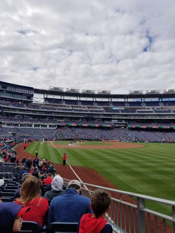 Nationals Park, section: 137, row: AA, seat: 12