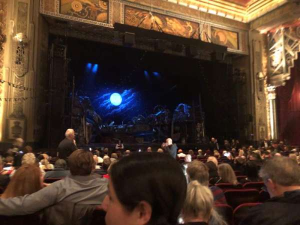 Hollywood Pantages Theatre, section: ORCHLC, row: U, seat: 309