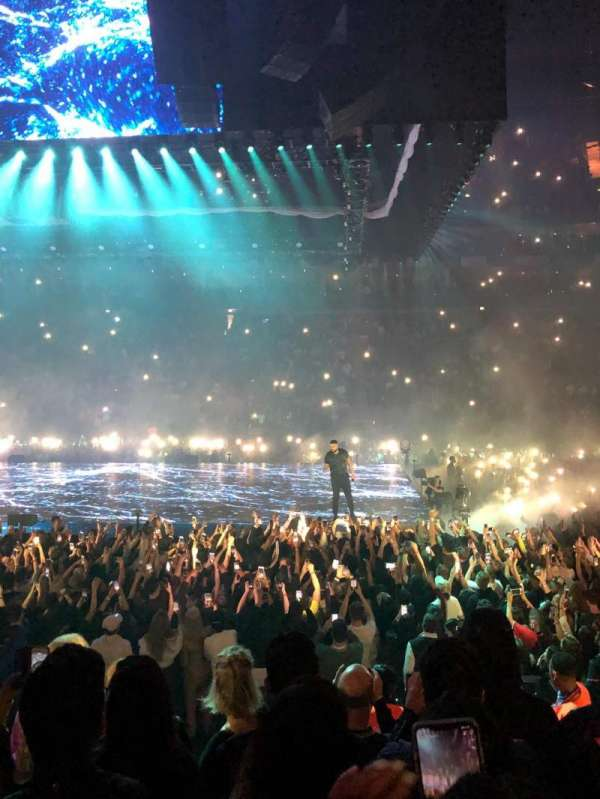 The O2 Arena, section: 102, row: J, seat: 85