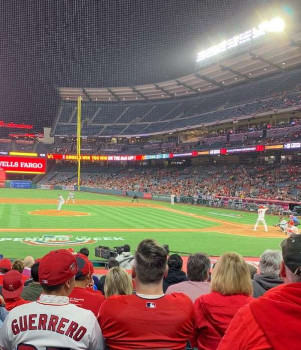 Angel Stadium, section: 112, row: M, seat: 14