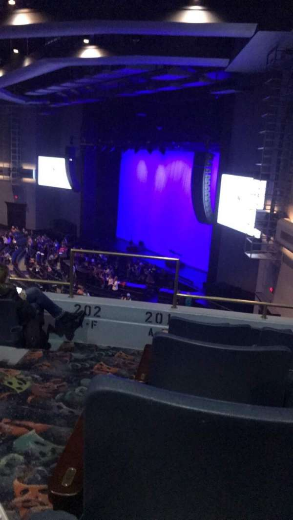 Rosemont Theatre, section: 201, row: E, seat: 1