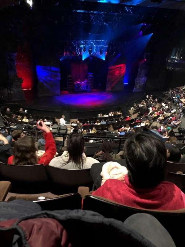 Gillian Lynne Theatre, section: Circle, row: E, seat: 56