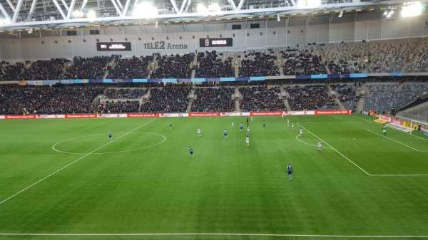 Tele2 Arena, section: B328, row: 1, seat: 346